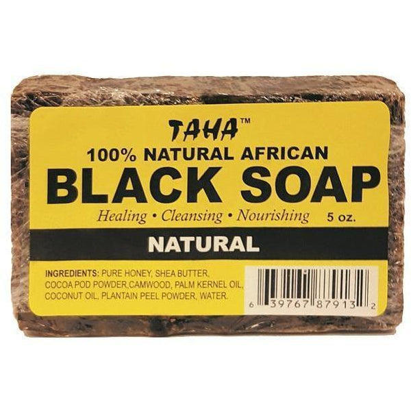Taha 100% Natural African Black Soap Natural 5 OZ