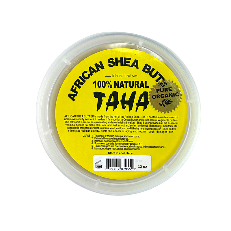 Taha 100% Natural African Shea Butter 12 OZ