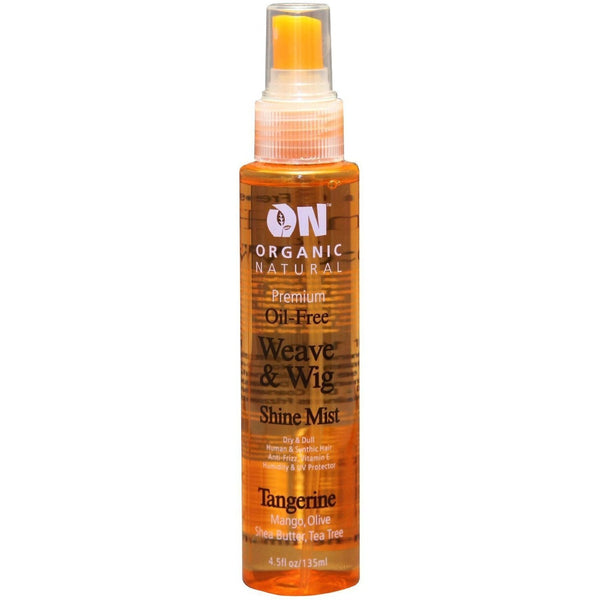 Organic Natural Oil-Free Weave & Wig Shine Mist Tangerine 4.5 OZ