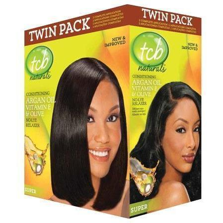 TCB Naturals Conditioning No-Lye Relaxer Twin Pack SUPER