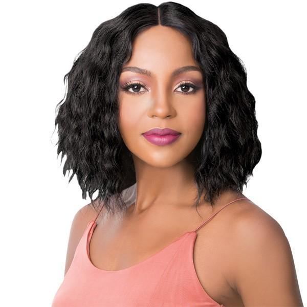 It's A Wig! Human Hair Swiss Lace Front Wig - Tiana