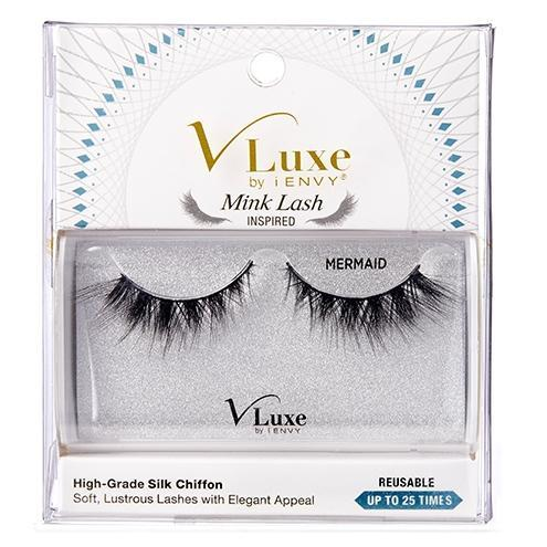 V-Luxe i-ENVY By Kiss Silk Chiffon Mink Lash Inspired Eyelashes – VLES04 Mermaid