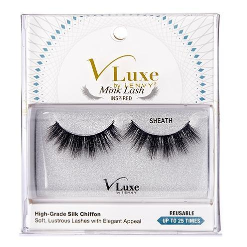 V-Luxe i-ENVY By Kiss Silk Chiffon Mink Lash Inspired Eyelashes – VLES05 Sheath