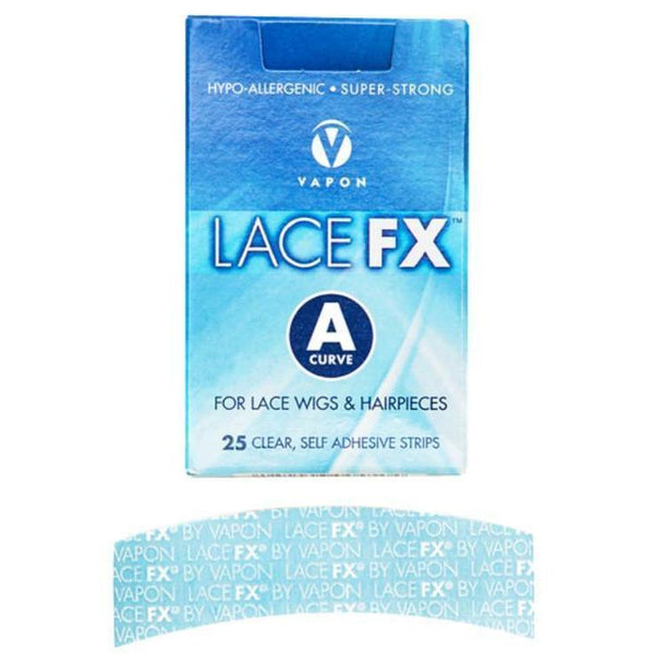 Vapon Lace FX A Curve Lace Wig Adhesive Strips 25 Ct