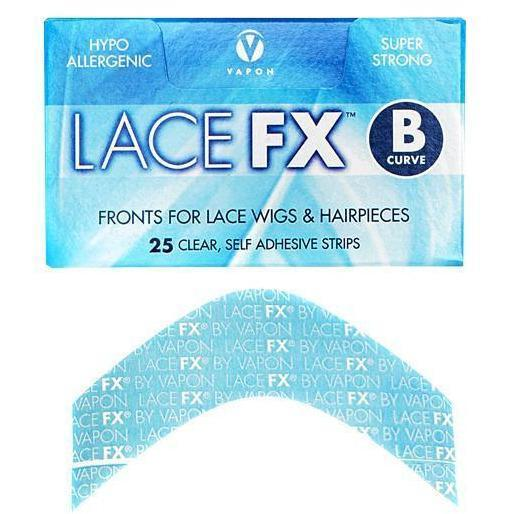 Vapon Lace FX B Curve Lace Wig Adhesive Strips 25 Ct