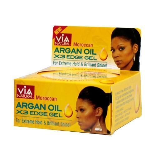 Via Natural Moroccan Argan Oil X3 Edge Gel 2.25 OZ