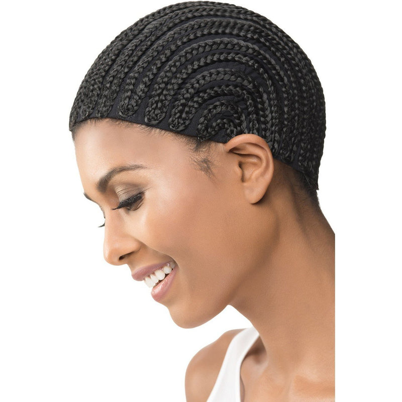 Vivica A. Fox Cornrow Express Cap w/Combs – Straight Back