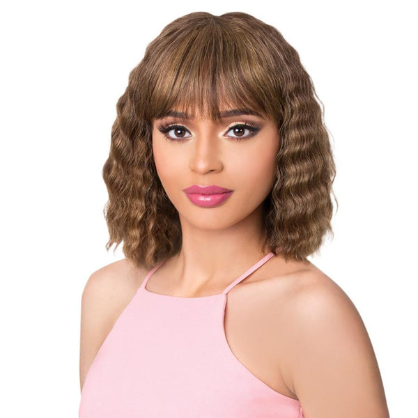 It's A Cap Weave! 100% Brazilian Human Hair Wig - Natural Blue