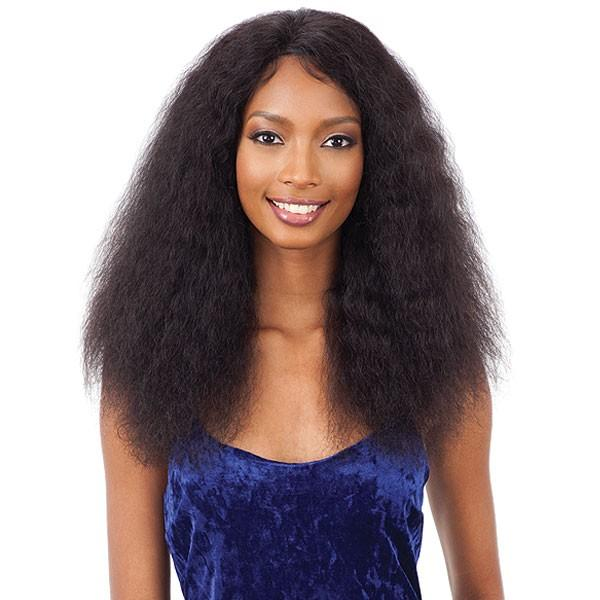 Shake N' Go Naked Brazilian Human Hair Lace Front Wig - Deep Curl