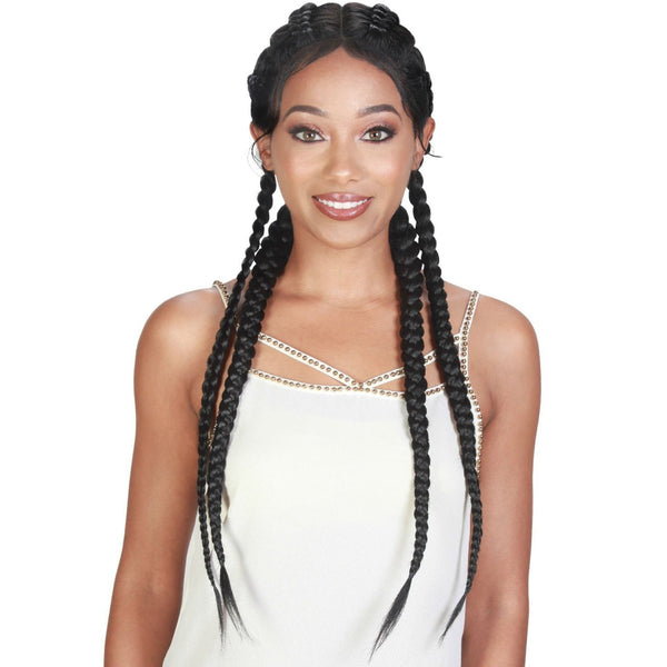 Zury Sis Synthetic Double Dutch Box Braid 360° Lace Front Wig – Dutch Box