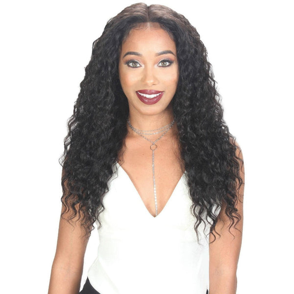 Zury Sis Wet & Wavy 100% Unprocessed Human Hair 360° Whole Lace Wig – Deep Wave 26""