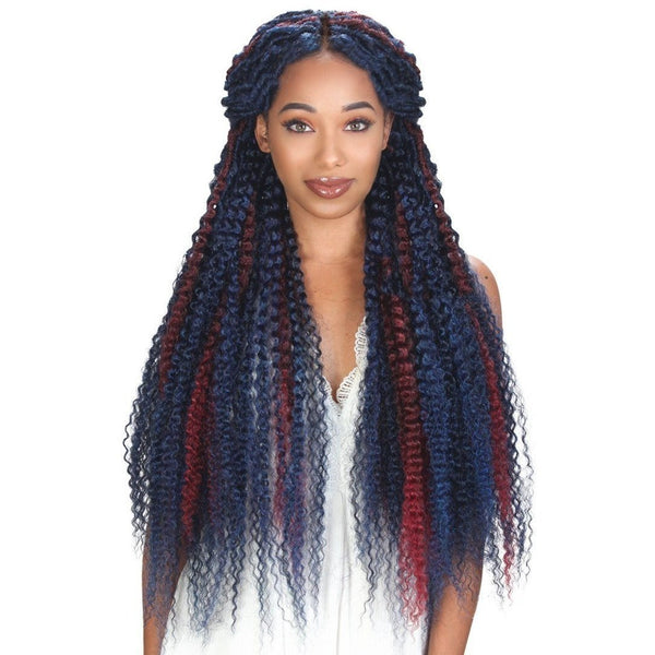 Zury Synthetic Queendom Crochet Braids – Boho-Kinky 28""