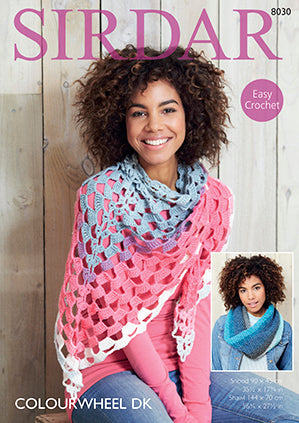 Sirdar Pattern #8030 Snood & Shawl - Crochet - Yarn Hoppers