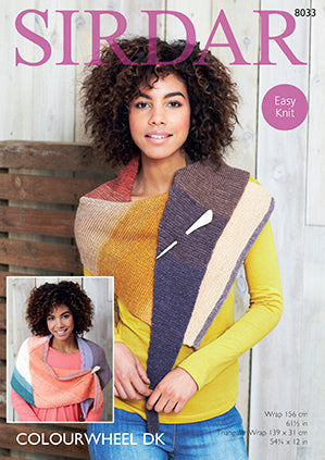Sirdar Pattern #8033 - Wrap & Triangular Wrap Knit - Yarn Hoppers