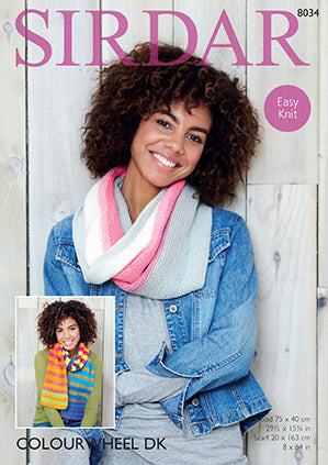 Sirdar Pattern #8034 - Twisted Snood & Scarf - Knit - Yarn Hoppers
