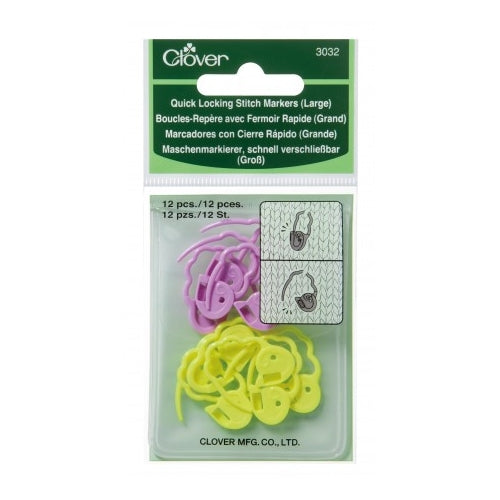 Quick Locking Stitch Markers (Large) #3032 - Yarn Hoppers