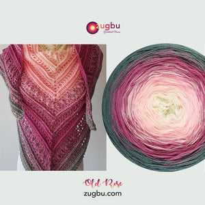 Mijo Crochet using Zugbu Gradient Yarns in Old Rose