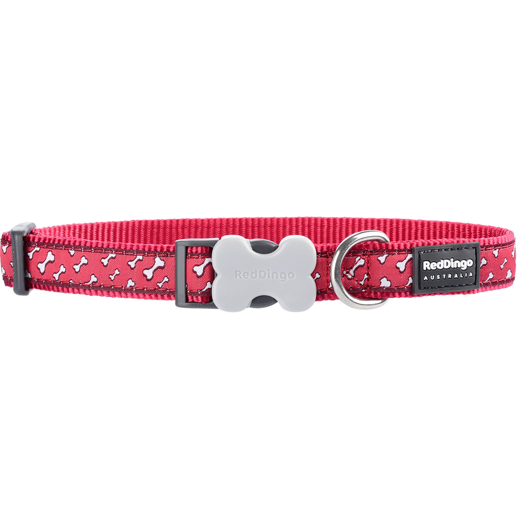Red Flying Bones Red Dingo Dog Collar