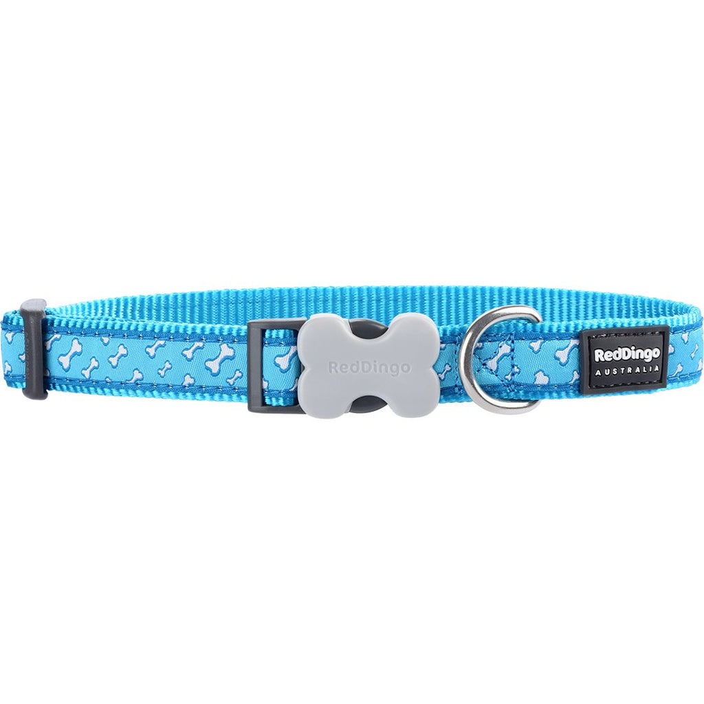 Blue Flying Bones Red Dingo Dog Collar - Dog Collar
