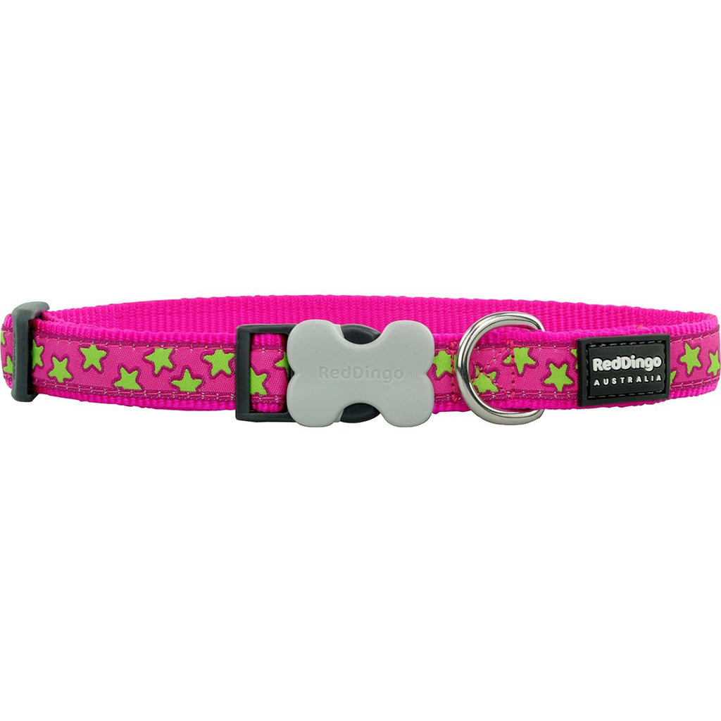Pink Star Red Dingo Dog Collar - Dog Collar