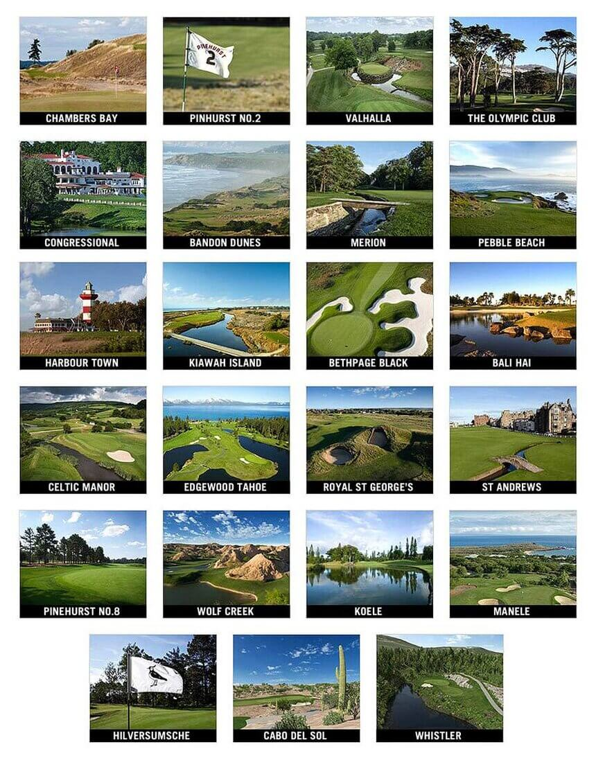 23 World Famous Golf Courses