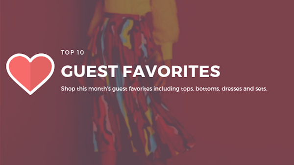 January's Top 10 Guest Favorites