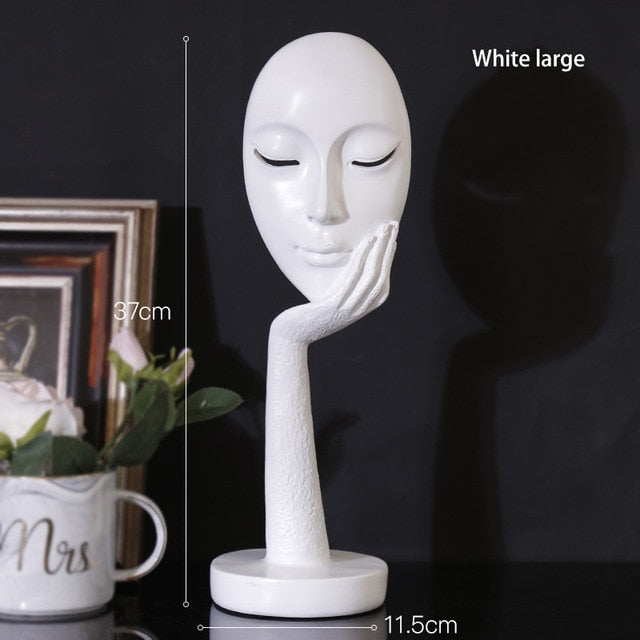 Lady Face Meditator Abstract Art Sculpture