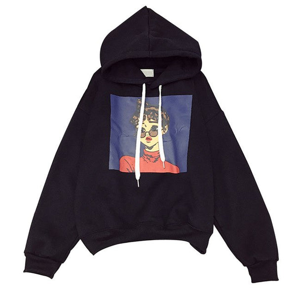 Cartoon Character Kpop Oversized Hoodie