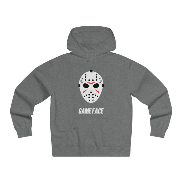 Game Face Hockey Mask Men's Lightweight Pullover Hooded Sweatshirt