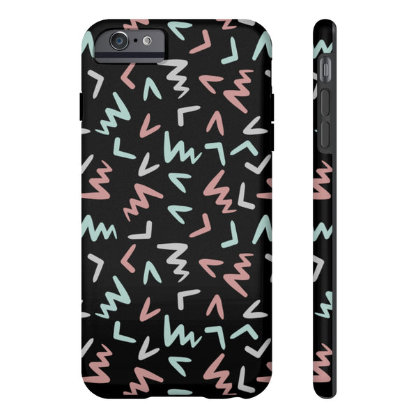Black Doodle Case Mate Tough Phone Cases