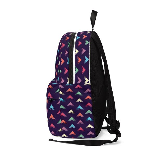 Liquid Arrow Minimalistic Bright Pattern Unisex Classic Backpack