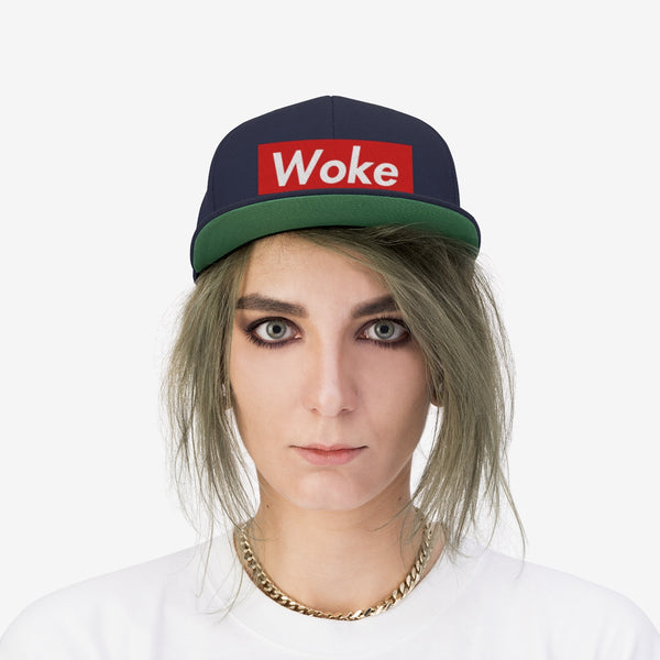 Stay Woke Urban Movement Protest Unisex Flat Bill Hat
