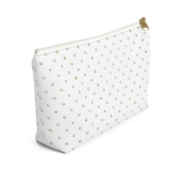 Gold Dot Accessory Pouch w T-bottom