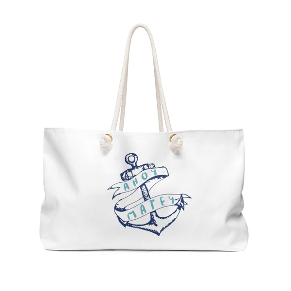 Ahoy Matey Anchor's Away Weekender Bag