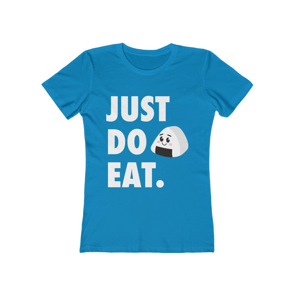 JUST DO EAT Kawaii Onigiri Women's Boyfriend Tee