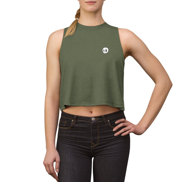 Buggin' Skull Women's Crop Top
