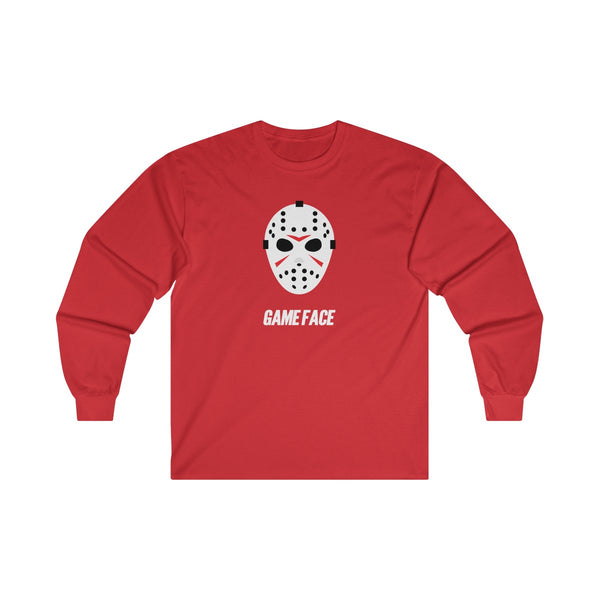 Game Face Hockey Mask Ultra Cotton Long Sleeve Tee