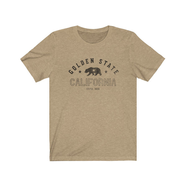California Republic Golden State Jersey Short Sleeve Tee