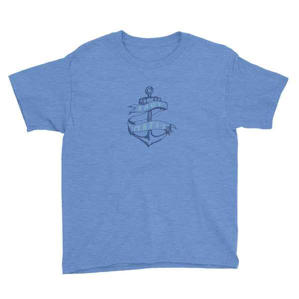 Ahoy Matey Anchor's Away Nautical Youth Short Sleeve T-Shirt