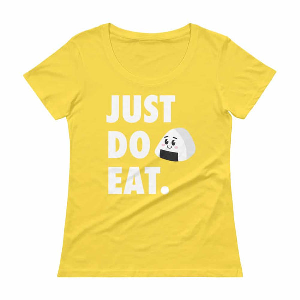 JUST DO EAT. Onigiri Japanese Kawaii Womens' Scoopneck T-Shirt