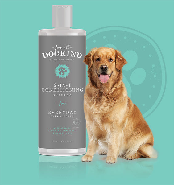 2 in 1 Conditioning Shampoo For Everyday Skin & Coats By Dogkind