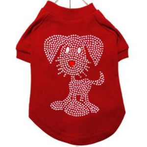 GlamourGlitz Pup Dog T-Shirt - Red