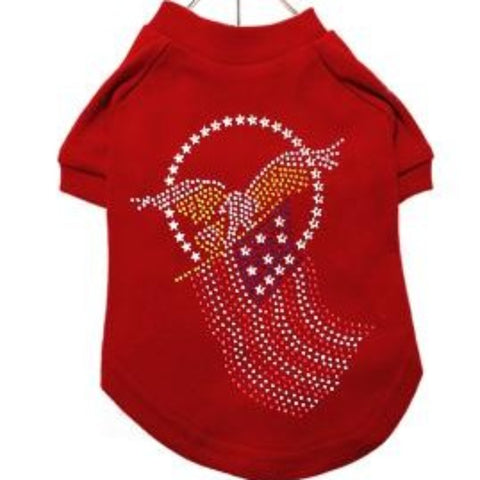 American Eagle Red GlamourGlitz Dog T-Shirt