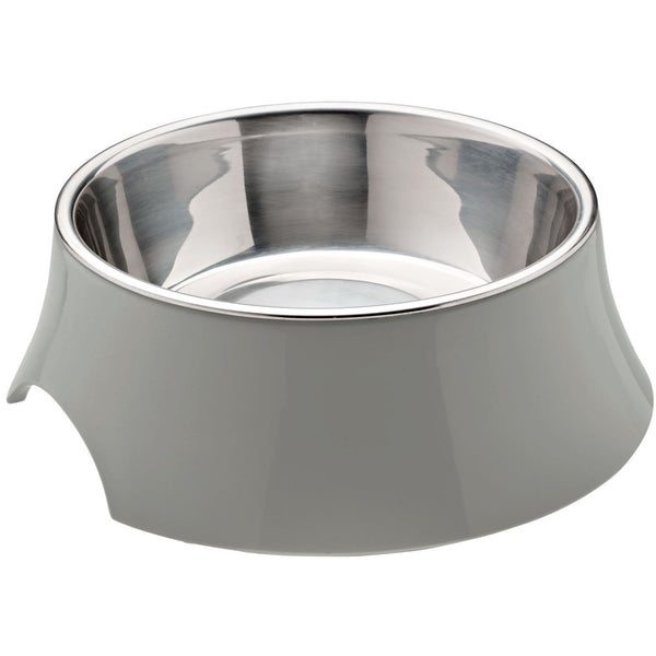 Atlanta Melamine Dog Bowl - Grey