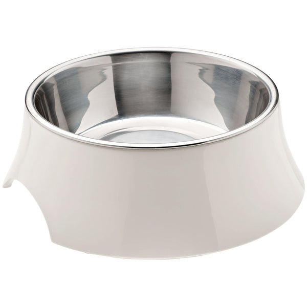 Atlanta Melamine Dog Bowl - White