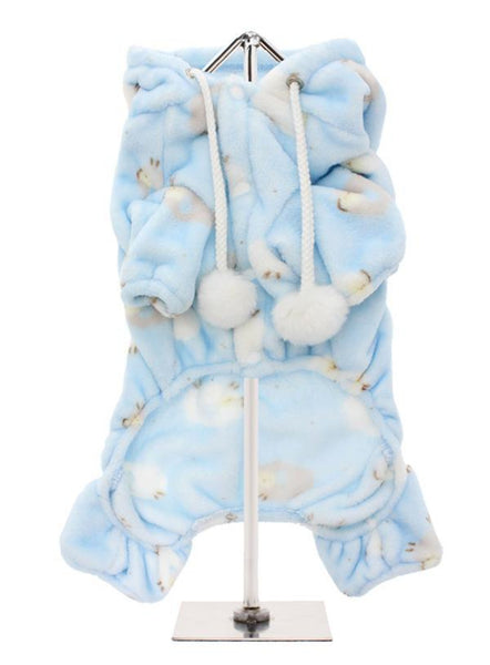 Baby Blue Counting Sheep Onesie Pyjamas - reverse side