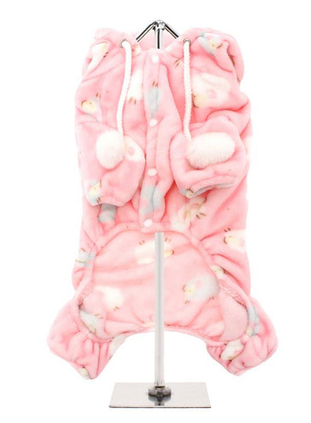 Baby Pink Counting Sheep Dog Onesie Pyjamas - Reverse Side