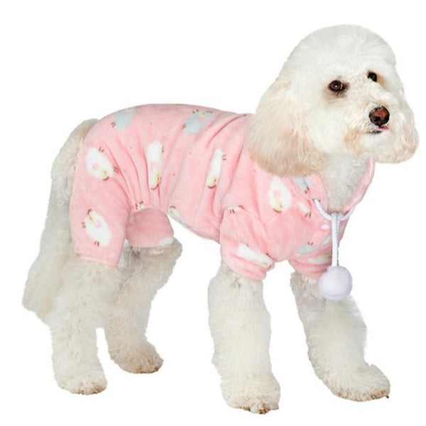 Baby Pink Counting Sheep Dog Onesie Pyjamas - Modelled by Dog
