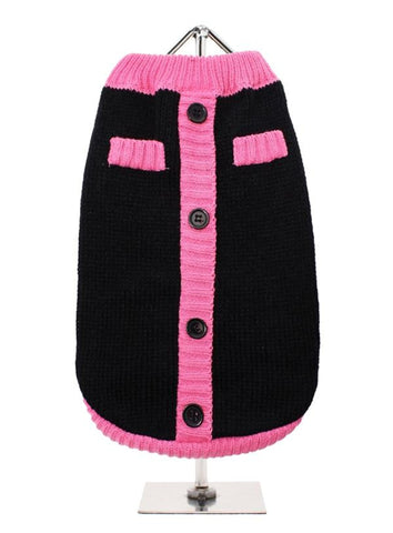 Black & Pink Mod Dog Sweater