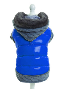 Blue/Grey Mix Padded Dog Jacket